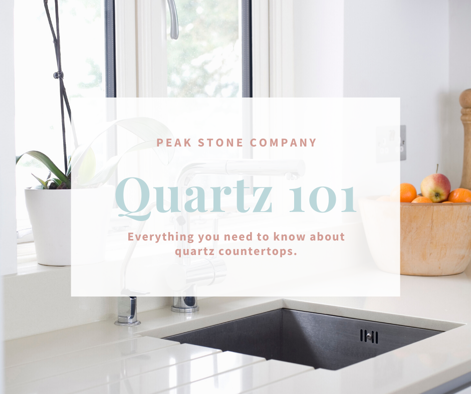 quartz kitchen with blog description